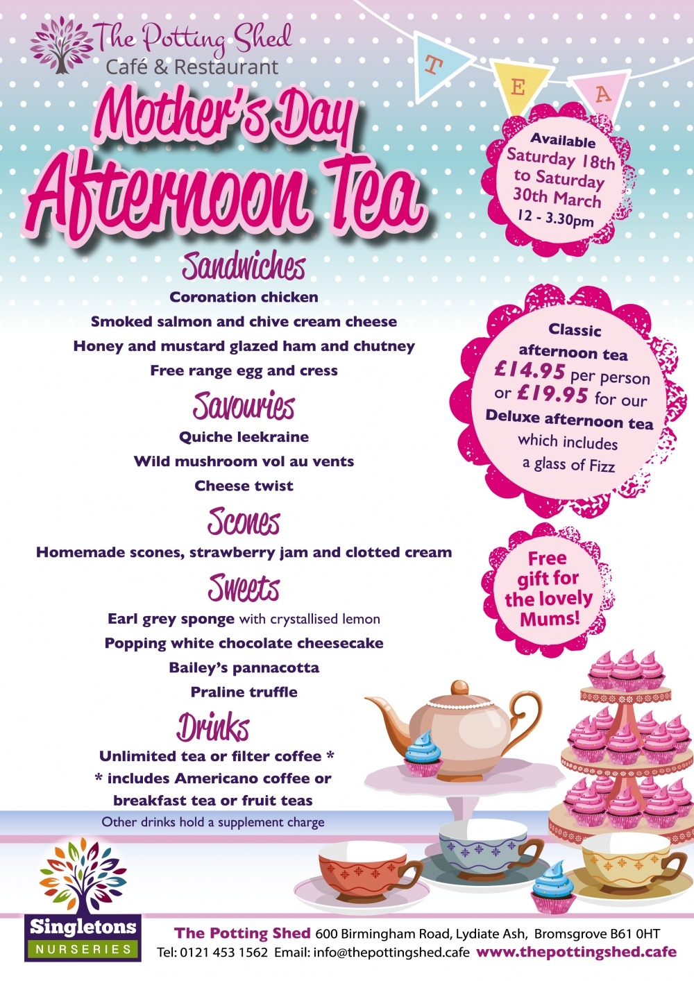 Mother's Day Afternoon Tea 2019