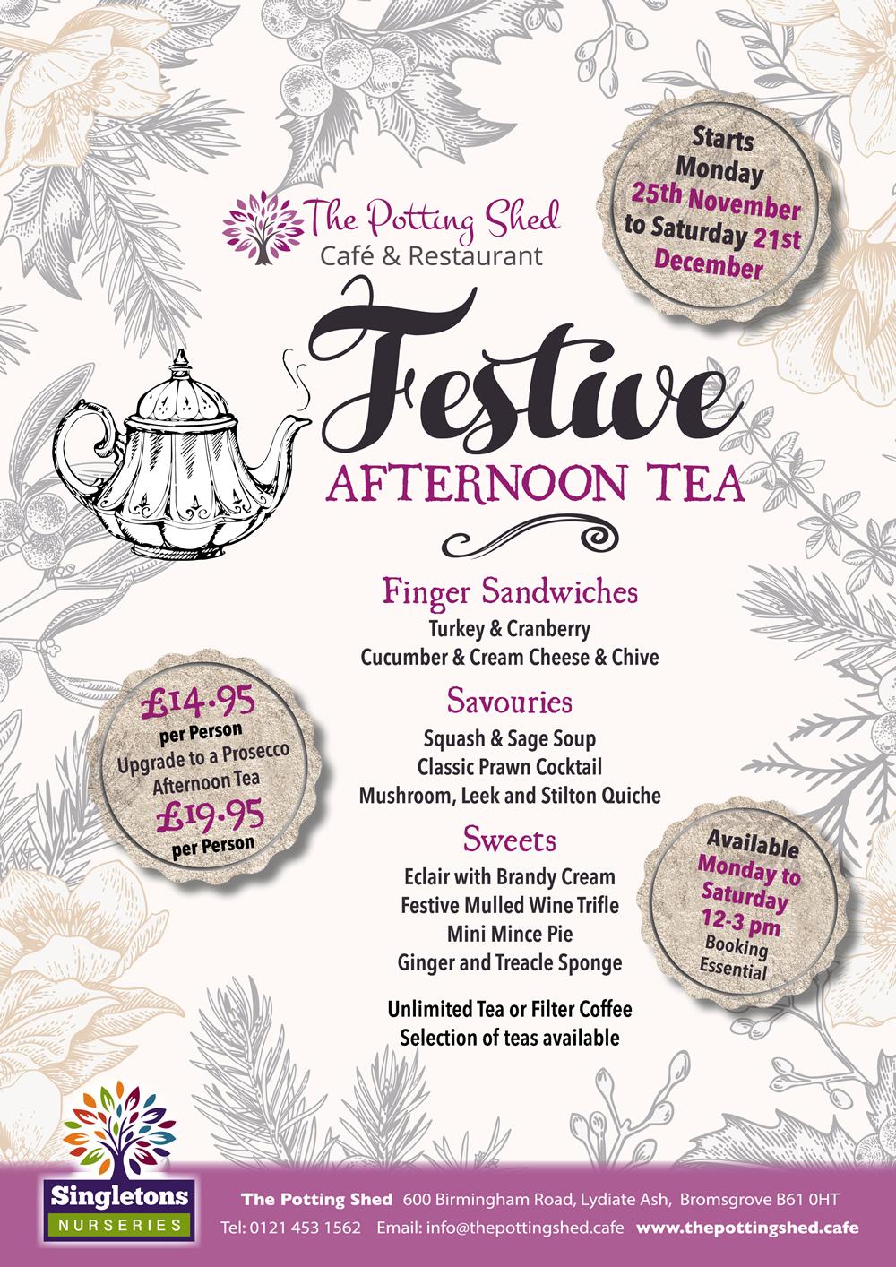 Festive Afternoon Tea Menu 2019